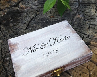Personalized Ring Bearer Box, Rustic Wedding, Ring Bearer Pillow Alternative, Rustic Ring Bearer Box, Wedding Ring Box