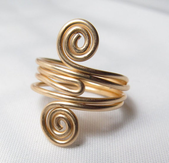gold knuckle ring middle finger ring gold stacking ring