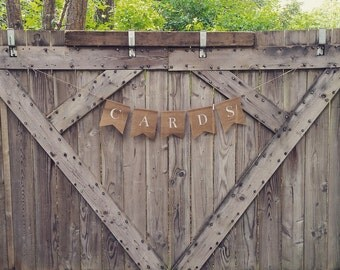 Cards Banner, Wedding Cards Banner, Wedding Banner, Burlap Cards Banner, Party Banner, Birthday Cards Banner, Gifts and Cards, Wedding Decor