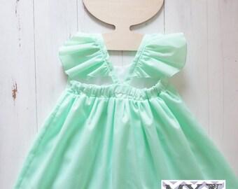 Peppermint Hummingbird Dress