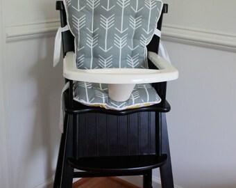 Custom Eddie Bauer Arrow High Chair Cushions, High Chair Pads, High Chair Cover, Highchair Pads, Wooden Highchair Cover, High Chair Cover