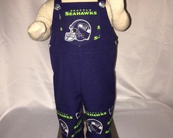 Seahawks Baby Boy Overalls