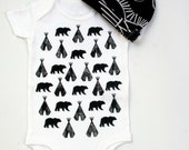 Woodland Baby Onesie  with Organic Bamboo...