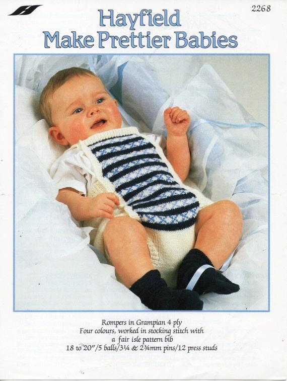 baby rompers knitting pattern fair isle rompers romper suit