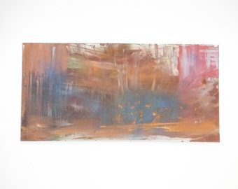 Original Abstract Painting. 15 x 30 on Stretched Canvas.