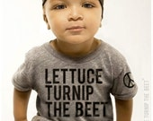lettuce turnip the beet ® trademark brand OFFICIAL SITE - heather grey track shirt with logo - baby, toddler and youth sizes