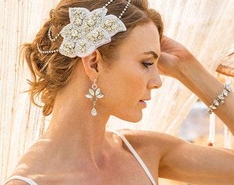 Jacinta Bohemian Bridal Headpiece, Gatsby Headpiece, Boho Wedding Headpiece, Art Deco Wedding Headpiece, Bridal Hair Piece Hair Clip