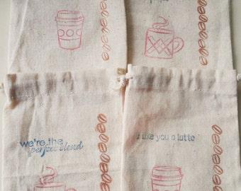 Coffee bags 4x6  - set of 10