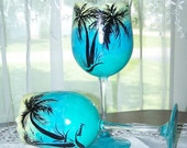 Palm Tree Glasses Set of Two
