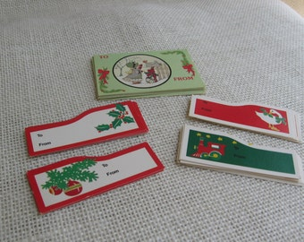 VIntage Christmas Gift Tags, Lot of 45, One Sided Gift Tags, To From Gift Tags, Holiday Tags, Gift Wrap, Christmas Tags, Xmas MyVintageTable