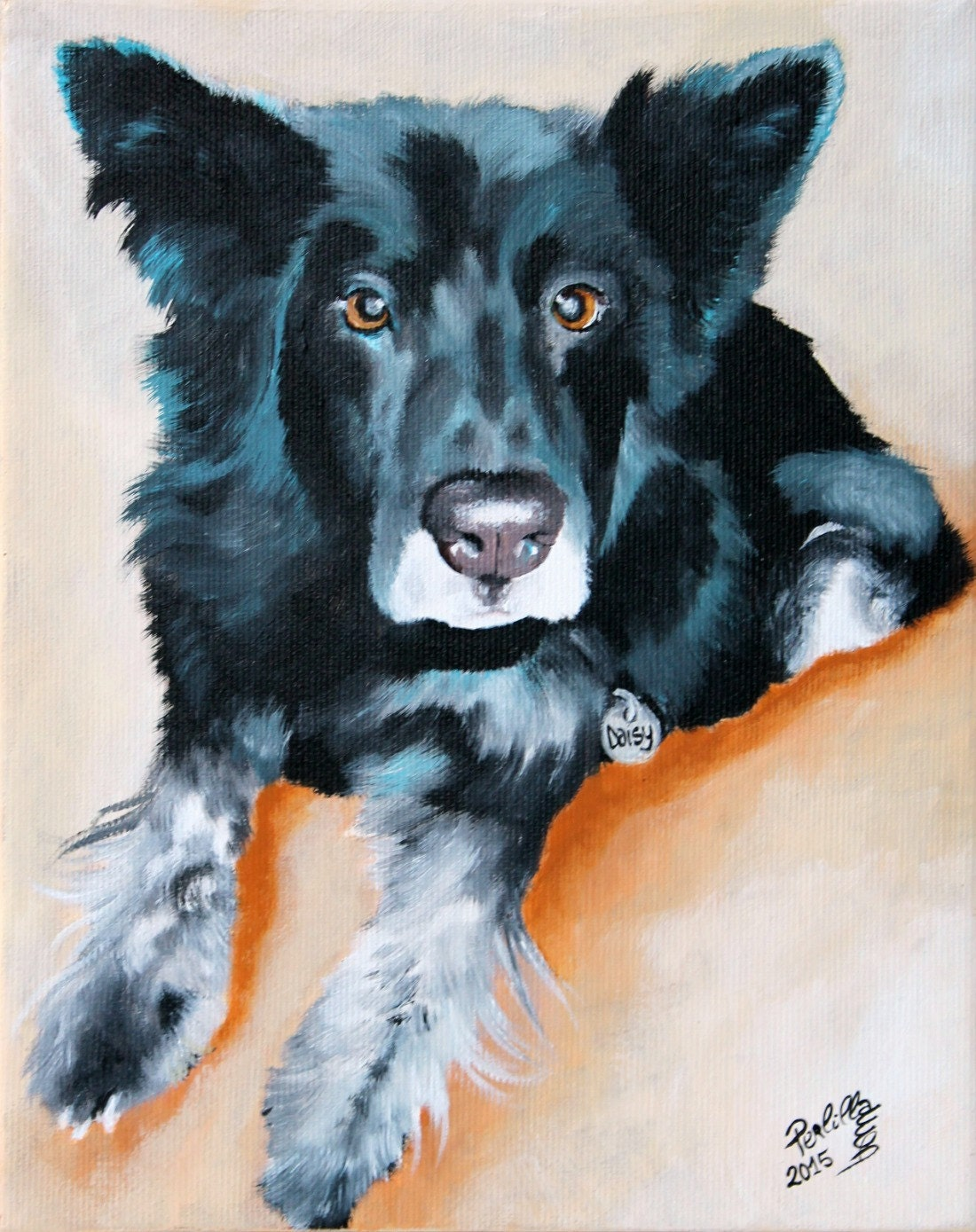 dog painting hand painted pet portrait from your photo on 8