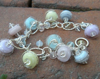 Spring Babies Bracelet // Glass Charm Bracelet // New Mother's Gift