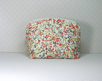 Makeup Bag, Liberty of London, Tana Lawn, Cosmetic Bag, Makeup Pouch, Liberty Fabric, Zippered Pouch, Cotton Makeup Bag, Bridesmaid Gift