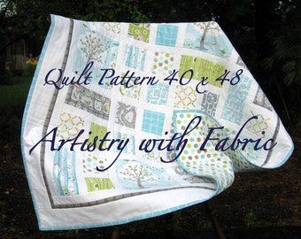 PDF Quilt Pattern LOTS of BLOCKS 40 x 48 Instant Download