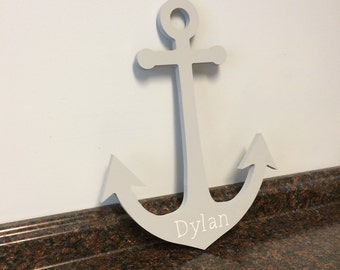 Wooden Anchor Wall Decor wooden anchor | etsy
