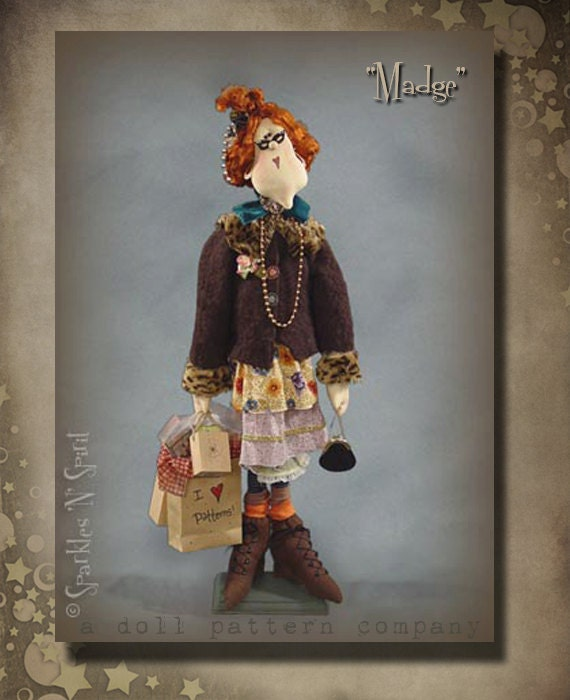 "Pattern: Madge - 30"" Bag Lady"