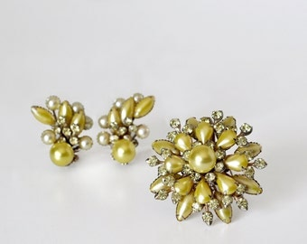 Vintage Signed Cathe Brooch and Earrings