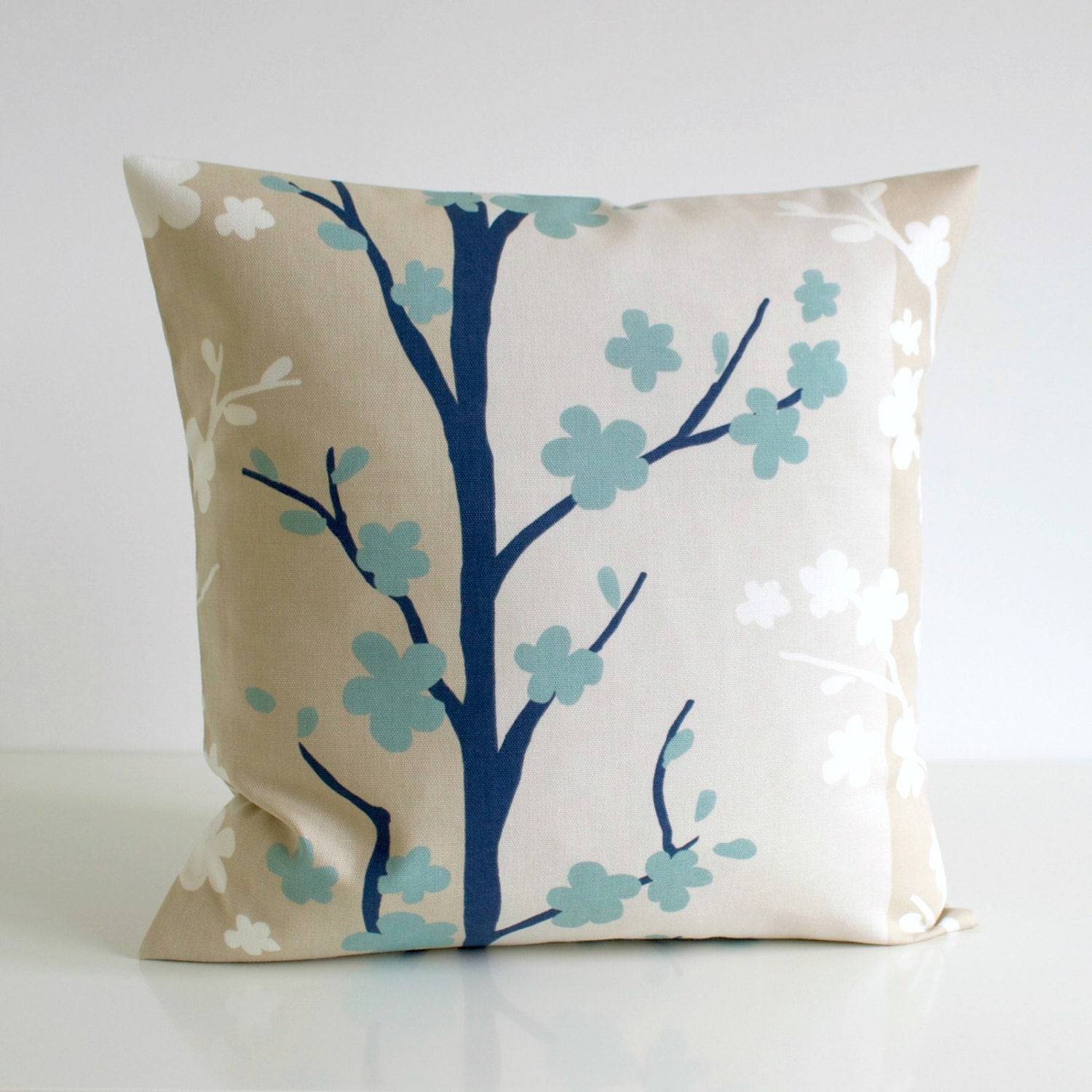 16x16 pillow cover 16 inch duck egg blue cushion by couplehome. Black Bedroom Furniture Sets. Home Design Ideas