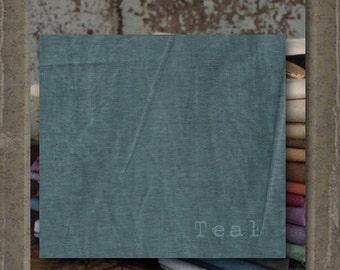 Fabric 1 YARD: Aged Muslin Cloth (New) -TEAL 9677 Marcus Fabrics