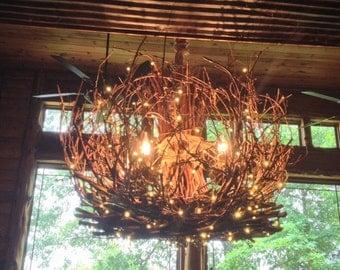 Cumberland  Rustic Chandelier  5 Light  Grapevine Chandelier  Twig Light    Twig ChandelierGrapevine chandelier   Etsy. Grape Vine Lighting. Home Design Ideas