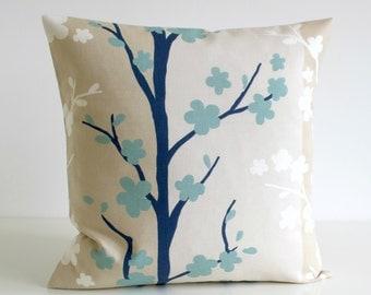 Duckegg Pillow Cover, Duck Egg Blue Cushion Cover, Throw Pillow Cover, Slipcase, Toss Pillow, Throw Pillow Cover - Nordic Blossom Blue