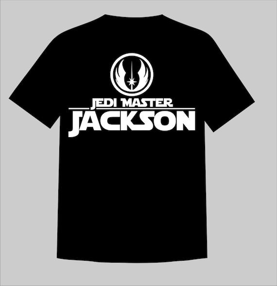 Custom personalized star wars jedi master shirt perfect for for Custom personal trainer shirts