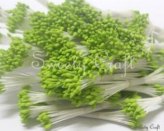 Light Green Color 1500pcs. Water droplets Shape, Artificial Flower Stamen, Pollen Flower for Handmade Flowers, Cards