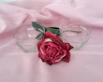 Clear Glass Candy Dish Set