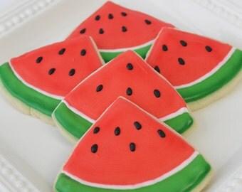 Watermelon Slice Cookies - 1 Dozen