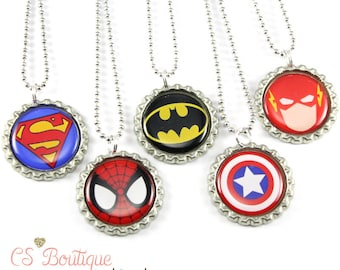 Super Hero Party Favor Necklaces or Keychains