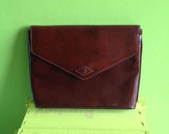 Years 70 leather clutch bag