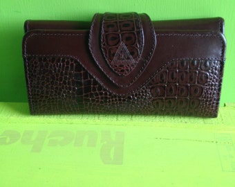 Wallet in vintage leather 70 years
