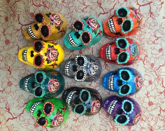 Hanging Sugar Skull You Choose the Color You Want