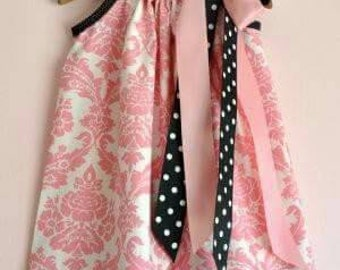 Gorgeous pink damask pillowcase dress
