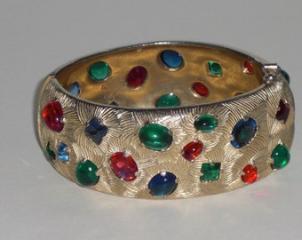 Cuff Bracelet (8), signed CASTELCLIFF years 1950's