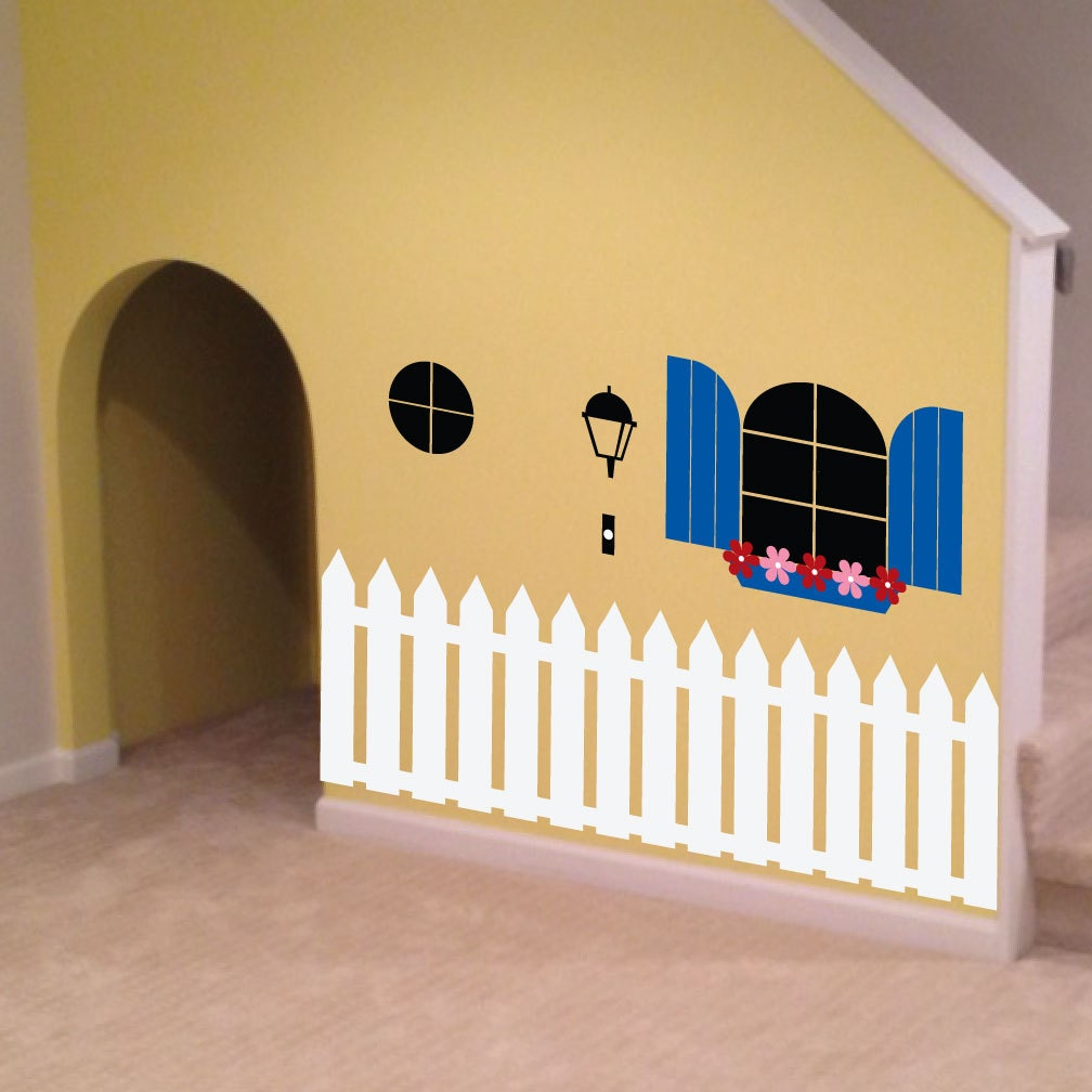 Indoor Playhouse Decal 0088 kids wall art playroom decal