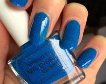 Mullet - Bright Blue Neon Nail Polish - handmade in the UK Indie Nail Polish - 10ml