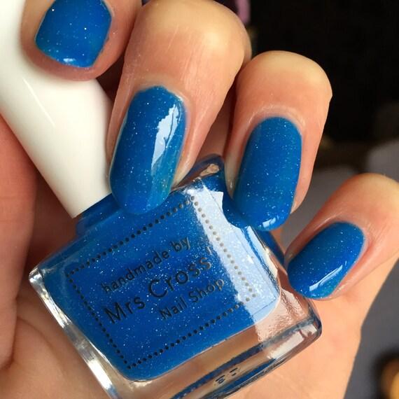 Neon Nail Polish Uk: Mullet Bright Blue Neon Nail Polish Handmade By