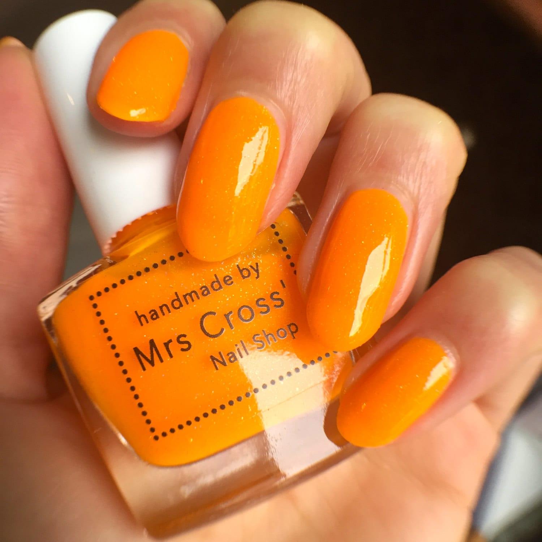 Super Black Holographic Nail Polish Uk: Bright Orange Nail Polish