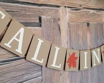 Fall in Love Wedding Banner, Wedding Fall in Love Sign, Fall in Love Wedding Photo Prop, Fall Theme