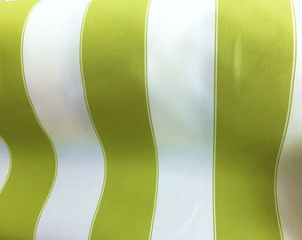 """Lime White Waterproof Outdoor Canvas Fabric- 60"""" - 600 Denier Fabric - By The Yard"""