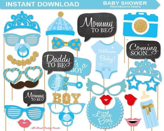 instant download baby shower photobooth props printable pack a