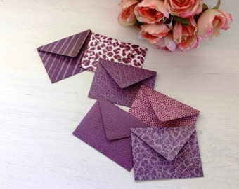 Handmade envelopes and greeting cards —  a set of 6