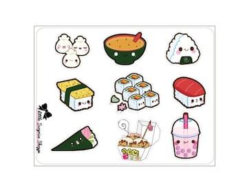 F018- Kawaii Sushi Stickers