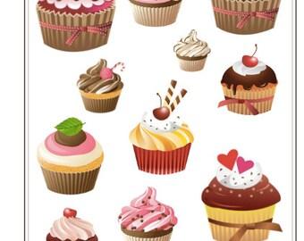 F005- Cupcake Love Stickers