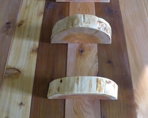 3 Live Edge Floating Shelf - Rustic Floating Shelf - Wood Floating Shelf - Live Edge Wood - Rustic Wood Tree Trunk - Tree Slice Shelf