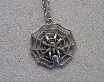 Necklace, Spiderweb Charm Pendant