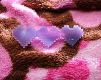 Healthy Hearts pixel hair clip