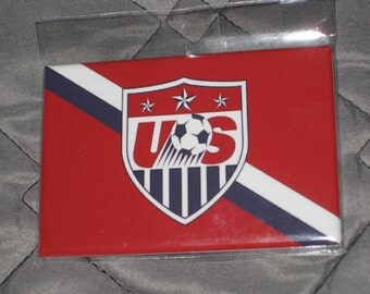 Sale!! USA Soccer National Team logo fridge magnet football jersey 2x3 inches