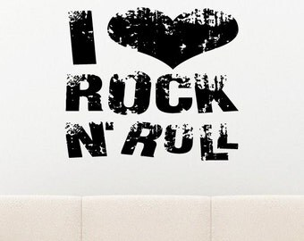 Rockin ' roll Rock quote wall sticker quote decal wall art decor 5889